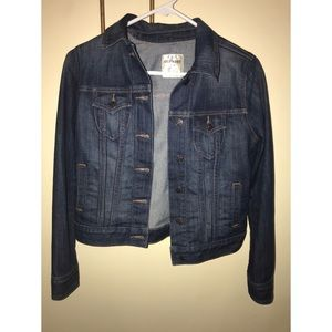 Old Navy petite women's denim cropped jacket